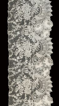 a flounce of Point de Gaze needle lace (a lot)  8 x 153in. (20 x 367cm.)  in a lot that sold for over $ 3,000