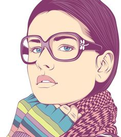 Digital vector art illustration // Cool vector portraits by CranioDsgn: