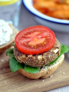 Lentil Walnut Burgers with Almonnaise (vegan, gluten-free, oil-free) Enjoy Lentil Walnut Burgers for Meatless Monday, or any day of the week! Top with the Almonnaise for one incredible burger! Vegan, oil-free & gluten-free.