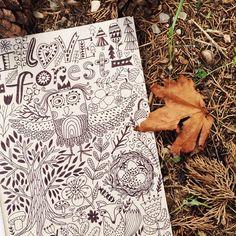 #markovka #forest #drawing #owl #lettering #illustratuin #doodle