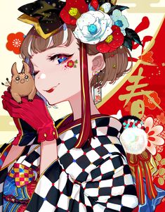 I love anime, manga and almost everything about japanese culture, so i decided i will post wallpapers and pictures of anime girls/guys/landscapes etc. Anime Kimono, Manga Anime, Kawaii Anime Girl, Anime Art Girl, Manga Girl, Anime Girls, Anime Comics, New Year Anime, Anime Drawing Styles