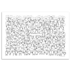 World of Moose - Fill Me In Poster, Big Demo, 100x70cm