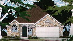 Country House Plan with 1099 Square Feet and 2 Bedrooms from Dream Home Source | House Plan Code DHSW74192