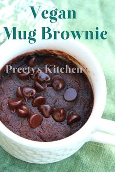 Preety's Kitchen: Vegan Mug Brownie /Eggless Single Serving Microwave Dessert