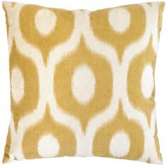 Printed Velvet Pillow - Honey