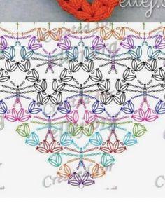 Captivating Crochet a Bodycon Dress Top Ideas. Dazzling Crochet a Bodycon Dress Top Ideas. Poncho Crochet, Puff Stitch Crochet, Bobble Stitch, Crochet Scarves, Crochet Clothes, Crochet Stitches, Crochet Diagram, Crochet Chart, Love Crochet