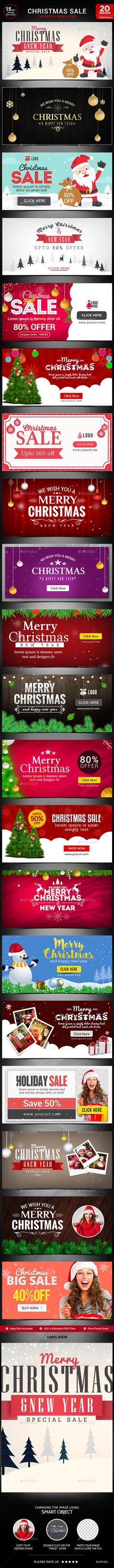 Christmas Sale Facebook Newsfeed Images - 20 Designs Template PSD #design Download: http://graphicriver.net/item/christmas-sale-facebook-newsfeed-images20-designs/14001421?ref=ksioks