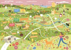 Illustrated food map of Yorkshire by Tom Woolley.