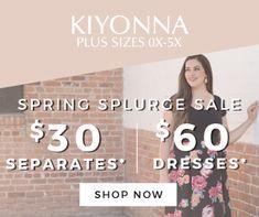 Plus size Clothing fashions sizes 12 to 44 PlanetGoldilocks #Plussizeclothing LASTDAY Kiyonna's huge $30/$60 sale is going on now! That's right, #KIYONNA #kiyonnaplusyou