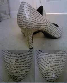 Book shoes, i.e. shoes with book pages on them. <3