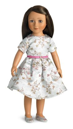 Carpatina Julia - 18 inch Vinyl Doll by Carpatina (way prettier than AG, and cheaper too) American Doll Clothes, Girl Doll Clothes, Doll Clothes Patterns, Doll Patterns, Julia Brown, Brocade Dresses, Vinyl Dolls, Fair Lady, Blue Gift