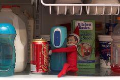Elf on the shelf ideas (go to her photostream)
