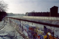 March A view of the Berlin wall towards a watchtower. West Berlin, Berlin Wall, Berlin Berlin, East Germany, Berlin Germany, Anti Communism, As Time Goes By, Iron Wall, Cold War