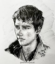 """#Inktober 3  Dylan O'Brien as """"Thomas"""" from The Maze Runner series Copic multiliners 3 Oct 2015  #DylanOBrien #TheMazeRunner #ScorchTrials #Drawing #Sketch #Illustration #Art #Artwork #Freehand #Handdrawn"""