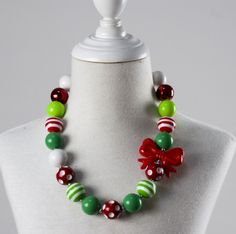 girl fashion necklace child beads bubble gum necklace kids chunky jewelry christmas