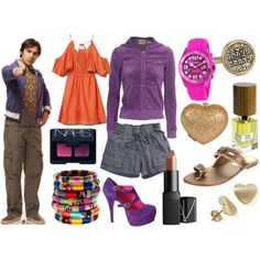 Raj Big Bang Theory Inspired Set by darlingstewie on Polyvore featuring Quiksilver, Juicy Couture, Splendid, Cocobelle, Mollini, Madewell, Lena Skadegard, Haurex, NARS Cosmetics and Nasomatto
