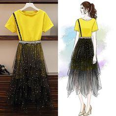 Match – Page 2 – orchidmetus Fashion Drawing Dresses, Fashion Illustration Dresses, Fashion Dresses, Stylish Dresses, Stylish Outfits, Cute Dresses, Kpop Fashion Outfits, Girls Fashion Clothes, Korean Girl Fashion