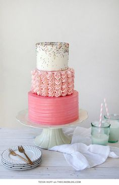10 Confetti Throwing Cakes | including this design by Tessa Huff | on TheCakeBlog.com