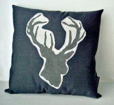 Denim Deer Pillow Pillownature Decormachine Liquenature Inspiredthrow
