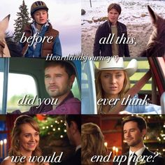 """heartlandsjourney: """" """"Before all this, did you ever think we would end up here? Heartland Season 11, Heartland Actors, Amy And Ty Heartland, Heartland Quotes, Heartland Ranch, Heartland Tv Show, Amber Marshall, Country Girl Quotes, Country Girls"""