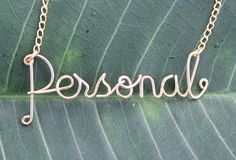 Personalized Gold Wire Name Necklace  Handmade Up by FabulousWire, $17.99
