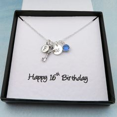 Personalized 16th Birthday Necklace With by CrystalSongJewels