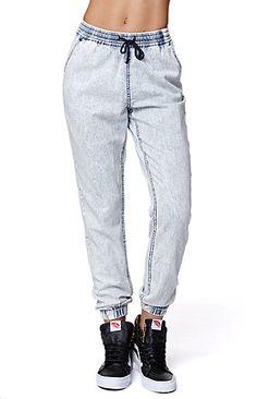 Acid Wash Jogger Jeans