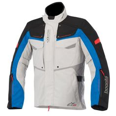 Alpinestars Honda Andes v2 Drystar Motorrad Textiljacke Wei/Ã/Ÿ//Rot//Schwarz XL