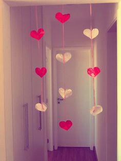 Pequena cortina de coração!