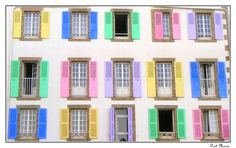 Windows from A Port Maria Hotel of Quiberon, Bretagne_ West France
