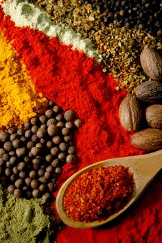 Spices from around the world - such beautiful colours! #travel.