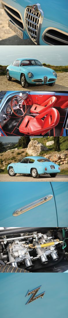 1958 Alfa Romeo Giulietta Sprint Veloce Zagato / SVZ / 118hp 1.3l L4 / blue red / Italy / 17-356