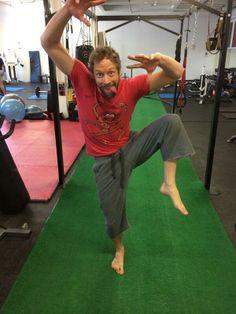 "Kris Holden-Ried ""A little Animal action at the gym.""  <<< Dork. Cute dork."