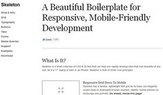 Forget Mobile Sites! Time for a Responsive Web: 11 Responsive Design Resources - DesignFestival » For Web Design Trends | Inspiration | Design Theory | Colors | Web Fonts | UX | Photoshop | Tutorials and more