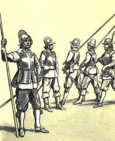 "Pikemen ""German infantry"" (1 half XVII century). Fig. B. Gembarzewski."