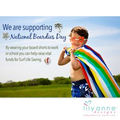 Happy Friday everyone!   The Lily Anne Designs Team are supporting National Boardies Day today! Thumbs up for all our Surf Life Saving volunteers!   #SurfLifeSaving #BoardiesDay