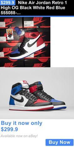 583a5f315a406 Men Shoes  Nike Air Jordan Retro 1 High Og Black White Red Blue 555088-