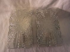 Pair Mid Century 60´s RZB Bubble Glass Sconces Wall Lamp #O/F