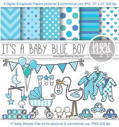 Papel Digital Fondos e Imagenes Clip art para por LagartixaShop, $4.00 #itsaboy #babyshower #babyblue #babyboy #digiscrap #stork #digitalpaper #patterns #clipart #ciguena #cicogna