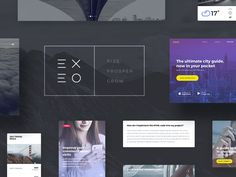My latest UI kit, called Exeo.  You can check out the Behance project here.  Available for sale on:  Creative Market | Designmodo Market  If you like my work, you can follow me on:  Facebook | Pint...