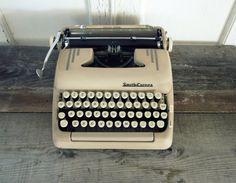 cream typewriter.