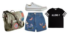 """""""Kara"""" by bambi2014 ❤ liked on Polyvore featuring Valentino, pop.see.cul, Marvel and Converse"""