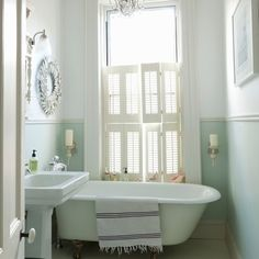 Looking for small bathroom ideas? Take a look at our best small bathroom design ideas to inspire you before you start redecorating your small bathroom Bathroom Styling, Classic Style Bathrooms, Small Bathroom, Modern Bathroom, Bathrooms Remodel, Bathroom Decor, Green Bathroom, Clawfoot Bathroom, Modern Bathroom Design