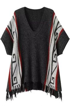 Favourite V Neck Short Sleeve Tasseled Sweater - OASAP.com