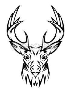 Deer Skull Drawings | Deer cute (vector) | Stock Vector © 7gone #6398877