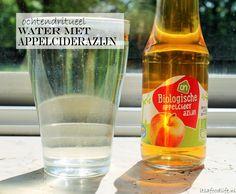 water met appelciderazijn   It's a Food Life