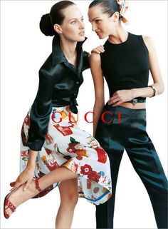 Рекламная кампания Gucci 1995 года. Фотограф Марио Тестино