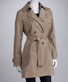 Take a look at this Tan Classic Belted Trench Coat by Colebrook on #zulily today! $38 !!