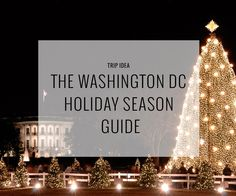 Washington DC Winter/Holiday Season things to do.