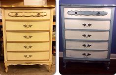 French Provincial Dresser/Chest of Drawers with by SofiesFancies